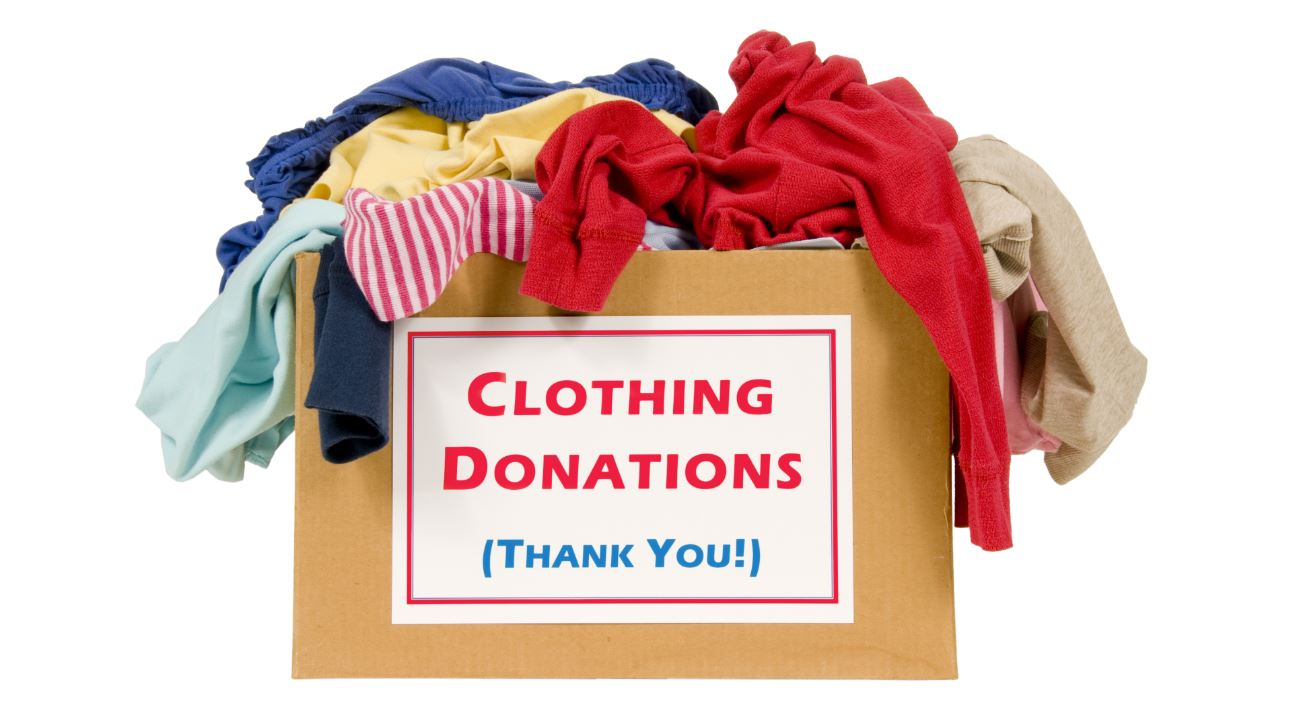 How to donate clothes online